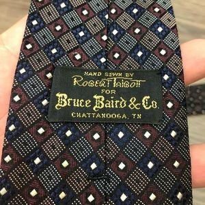 Robert Talbott Accessories - Robert Talbott Maroon, Navy & White Check Tie
